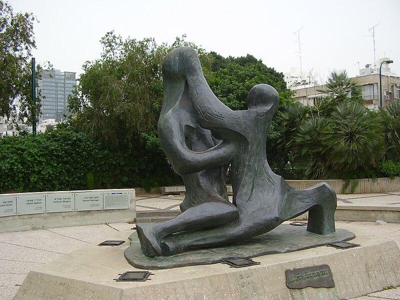 פסל לזכר חללי הטבח באולימפיאדת מינכן