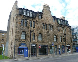 Frederick Thomas Pilkington - Image: Pilkington tenement frontage, Fountainbridge Edinburgh