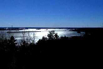 Nathan Bedford Forrest State Park - The Tennessee River, looking south from Pilot Knob