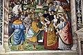 Pinturicchio, liberia piccolomini, 1502-07 circa, Enea Silvio, vescovo di Siena, presenta Eleonora di Portogallo all'imperatore Federico III 06.JPG