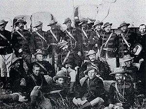 Pioneer Column - Officers of the Pioneer Corps, c. 1890