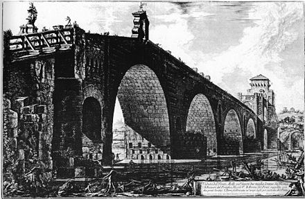 One of Piranesi's views of Rome Piranesi-Ponte-Milvio.jpg