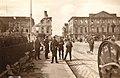 Place des Arts juillet 1940, à droite bibliothèque à gauche muséum, auteur inconnu.jpg