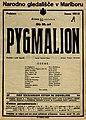Plakat za predstavo Pygmalion v Narodnem gledališču v Mariboru 22. oktobra 1927.jpg