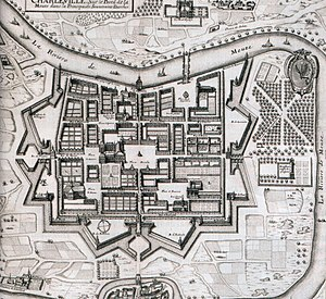 Charles Gonzaga, Duke of Mantua and Montferrat - Plans of Charleville in 1625