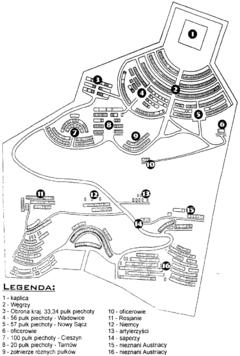 Mapa cmentarza