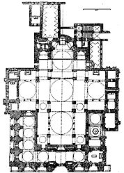 Floor plan of St. Mark's Basilica in Venice