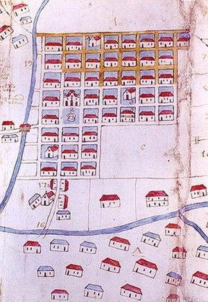 Medellín - Map of Medellín in 1791.
