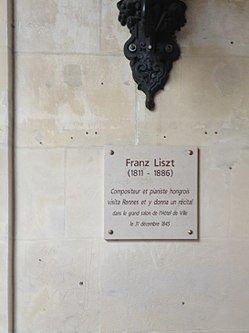 Photo of Franz Liszt white plaque