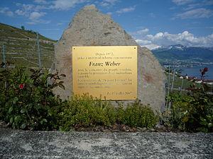 Franz Weber (activist) - Puidoux, (Chemin de la Dame)