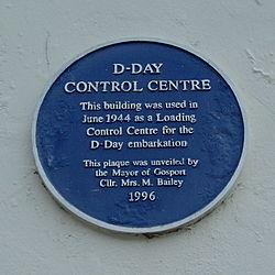 Photo of D-Day Control Centre blue plaque