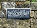 Plaque on the outer wall of St Mary's Chapel - geograph.org.uk - 1445146.jpg
