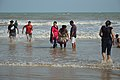 Playful People with Sea Waves - New Digha Beach - East Midnapore 2015-05-01 8783.JPG