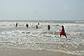 Playful People with Sea Waves - New Digha Beach - East Midnapore 2015-05-03 9814.JPG