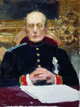Konstantin Pobedonostsev - Pobedonostsev was known for his gaunt figure and pale, corpse-like countenance, as one may judge from this portrait by Ilya Repin.