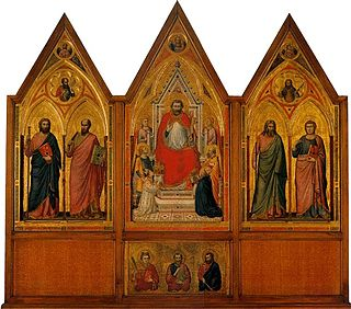 <i>Stefaneschi Triptych</i> painting by Giotto di Bondone