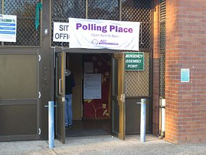 Australian Electoral Commission - Entrance to polling station run by the Australian Electoral Commission (Australian Federal Elections 2016)