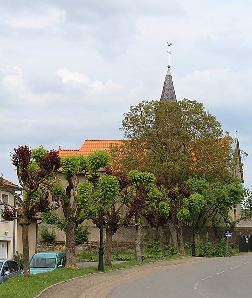 Pommérieux, the village church