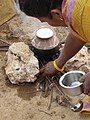 Pongal being prepared in a village in Coimbatore district.jpg