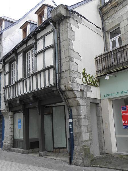 Maison sise 4 rue du Fil à Pontivy (56).