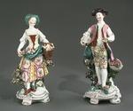 Porslin. Två figuriner. Herde och herdinna - Hallwylska museet - 89300.tif