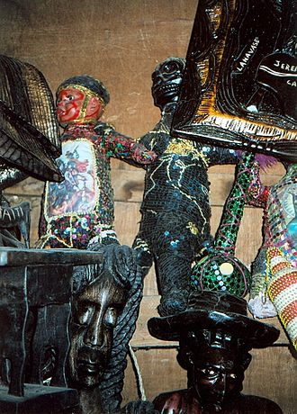Haitian Vodou - Vodou paraphernalia, Port-au-Prince, Haiti.