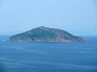 Chek Chau - Port Island viewed from Wan Tsai.