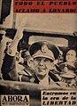 Portada de la revista Ahora, tras el golpe de Estado de 1955 de Argentina.jpg