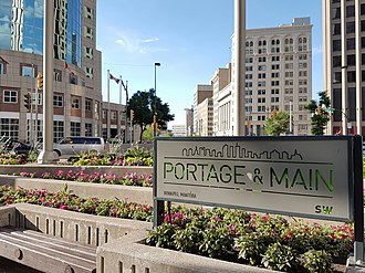 Portage and Main - Image: Portage and Main signage sw