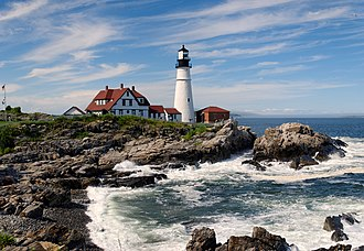 Cape Elizabeth, Maine - The Portland Head Light, a famous lighthouse located in Cape Elizabeth