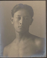 Portrait of Hawaiian boy titled 'The Athlete' (front view) 1909.jpg