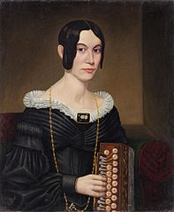 Portrait of a Lady with an Accordion
