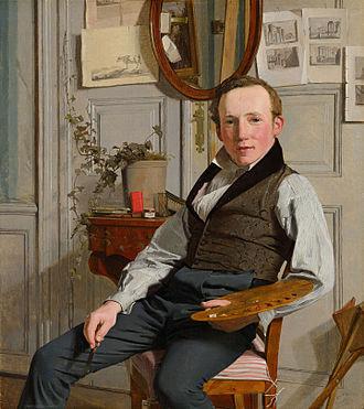 Frederik Sødring - Portrait of Sødring by Christen Købke