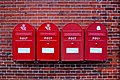 Post Danmark Post boxes in Fåborg, Denmark.jpg
