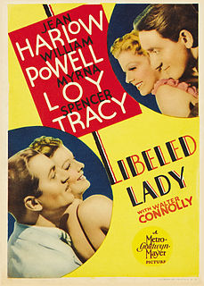 <i>Libeled Lady</i> 1936 film by Jack Conway