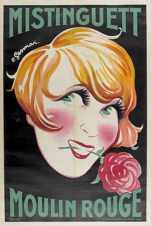 Poster artist - Image: Poster Mistinguett Moulin Rouge