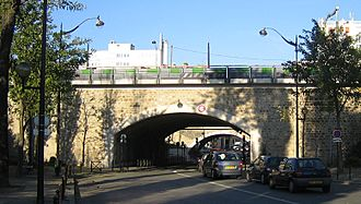 Fortifications of Paris in the 19th and 20th centuries - Vestige of the Thiers Wall (the poterne des Peupliers)