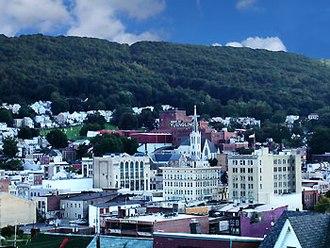 Pottsville, Pennsylvania - Pottsville skyline