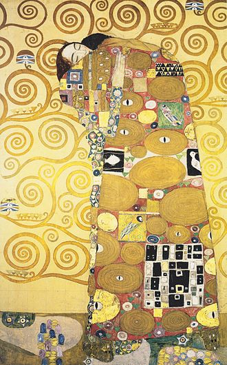 Stoclet Palace - Detail of the preparatory design by Gustav Klimt for the mosaic friezes of the main dining room of the Stoclet Palace (Museum für angewandte Kunst, Vienna).