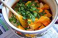 Preparing pumpkin soup (16757496080).jpg