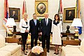 President Trump and the First Lady Welcome the President of the Republic of Poland and Mrs. Agata Kornhauser-Duda (44051441614).jpg