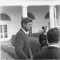 President greets Latin American Archivists. President Kennedy, Archivists. White House, Rose Garden - NARA - 194237.tif