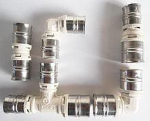 Several different fittings, ready for pressing