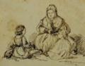 Presumível representação de D. Maria II com os príncipes D. Pedro e D. Luís - Fernando II de Portugal.png