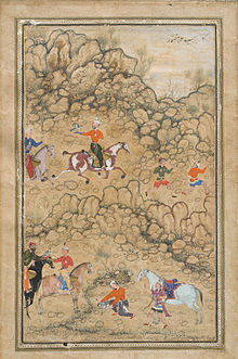 Prince Akbar and Noblemen Hawking, Probably Accompanied by His Guardian Bairam Khan.jpg