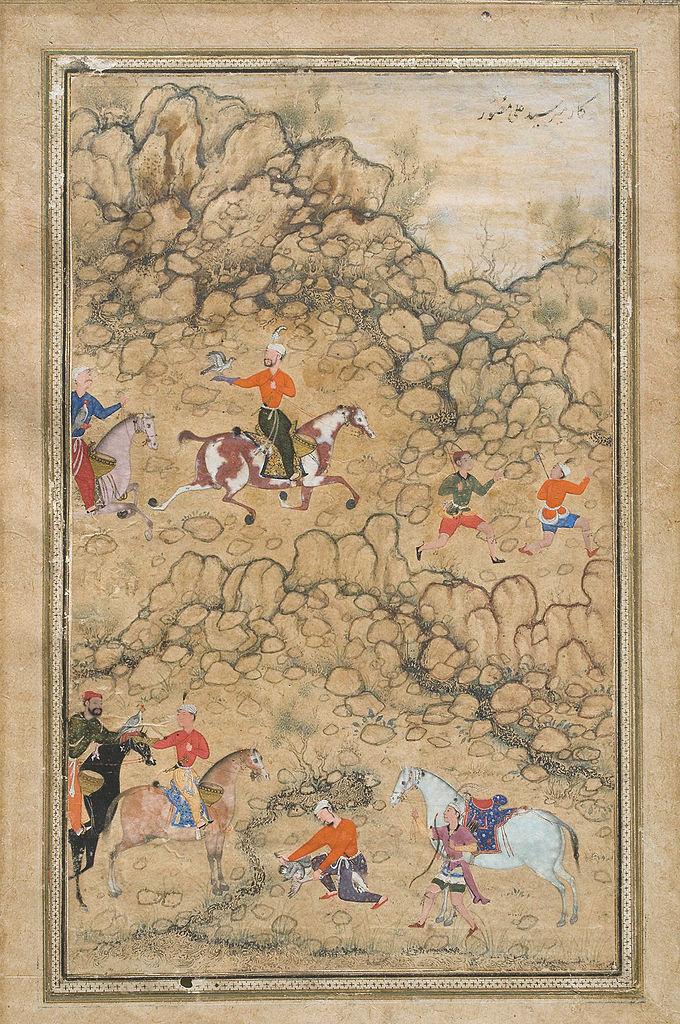 Файл:Prince Akbar and Noblemen Hawking, Probably Accompanied by His Guardian Bairam Khan.jpg — Башҡорт Википедияһы