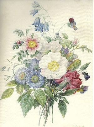 Adélaïde of Orléans (1777–1847) - Summer posy by Adélaïde