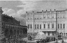 Prinz-Albrecht-Palais in Berlin (um 1837) (Quelle: Wikimedia)