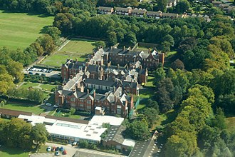 Cheadle Royal Hospital - Cheadle Royal Hospital from the air