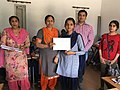 Prize and Certificate distribution ceremony at Wiki Awareness Campaign Karnal 08.jpg
